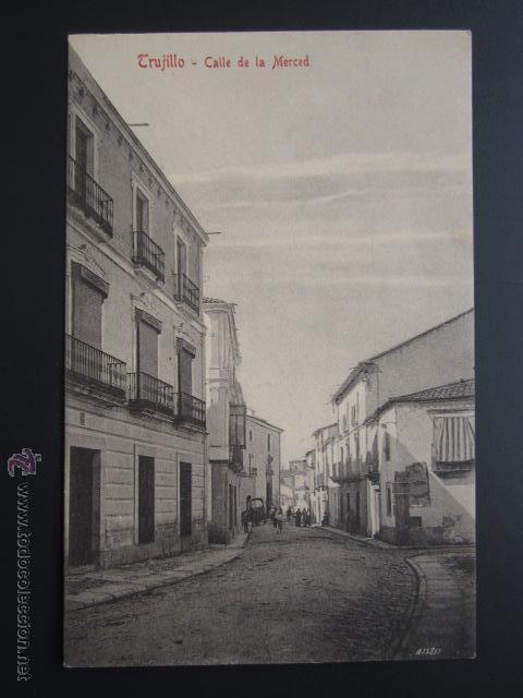 POSTAL CÁCERES. TRUJILLO. CALLE DE LA MERCED. A. DURÁN. (Postales - España - Extremadura Antigua (hasta 1939))