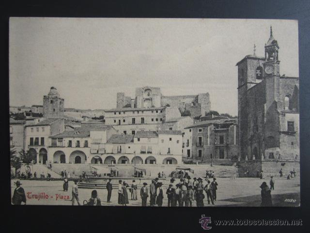 POSTAL CÁCERES. TRUJILLO. PLAZA. A. DURÁN (Postales - España - Extremadura Antigua (hasta 1939))