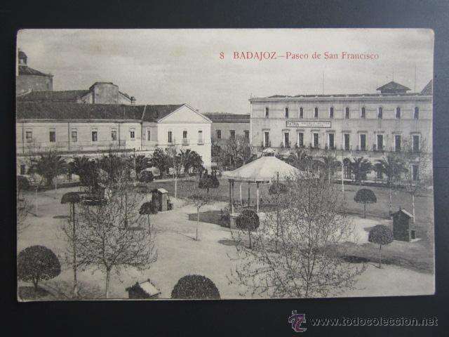 POSTAL BADAJOZ. PASEO DE SAN FRANCISCO. (Postales - España - Extremadura Antigua (hasta 1939))