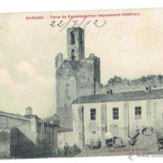 Postales: PS5727 BADAJOZ 'TORRE DE ESPANTAPERROS (MONUMENTO HISTÓRICO)'. VDA. DE CLARAMÓN. 1912. Lote 48278521