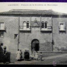 Postales: POSTAL DE CACERES. PALACIO DE LA CONDESA DE MAYORALGO. 1910-1915. PHO`OTYPIE J. BIENAIME REIMS.. Lote 54995510
