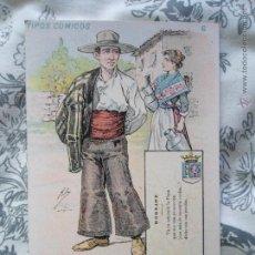 Postales: ANTIGUA POSTAL BADAJOZ - TIPOS COMICOS - SIN DIVIDIR - S. CALLEJA - MADRID. Lote 55682809