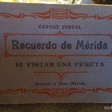 Postales: RECUERDO DE MERIDA- 10 POSTALES DE MERIDA .BADAJOZ.EXTREMADURA-RIVERA IMPRESOR.MERIDA-HAUSER Y MENET. Lote 56152769