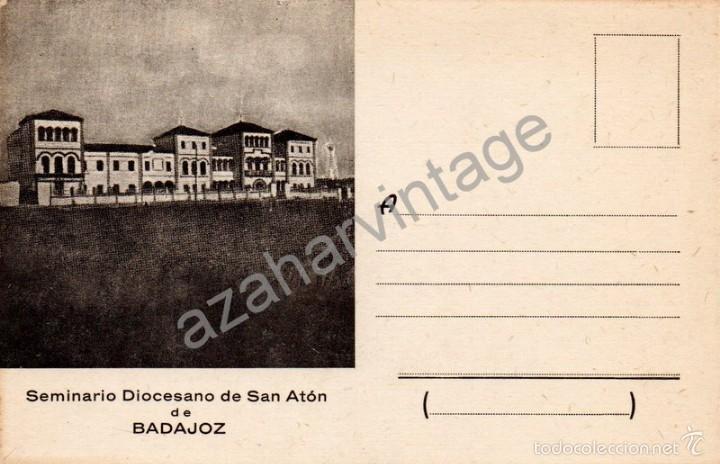 POSTAL DEL SEMINARIO DIOCESANO DE BADAJOZ, RARA (Postales - España - Extremadura Antigua (hasta 1939))