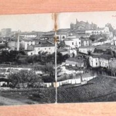 Postales: POSTAL DOBLE ANTIGUA CÁCERES. PLASENCIA. VISTA DE LA CIUDAD. PHOTOTYPIE J. BLENCIME, REIMS. . Lote 57431085