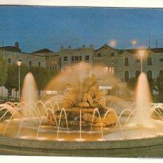 Postales: DON BENITO (BADAJOZ).- PLAZA DE ESPAÑA. FUENTE LUMINOSA. Lote 57559362