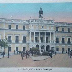 Postales: POSTAL DE BADAJOZ - PALACIO MUNICIPAL. Lote 57563431