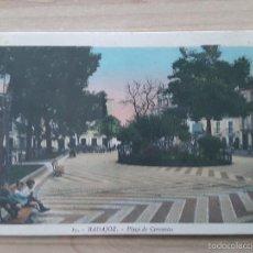 Postales: POSTAL BADAJOZ - PLAZA DE CERVANTES. Lote 57563477