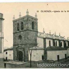 Postales: BADAJOZ OLIVENZA IGLESIA DE LA MAGDALENA. SIN CIRCULAR. Lote 57765299