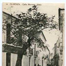 Postales: BADAJOZ OLIVENZA CALLE MORENO NIETO Nº 14. SIN CIRCULAR. Lote 57873942