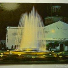 Postales: POSTAL VILLAFRANCA DE LOS BARROS-PL.ESPAÑA FUENTE LUMINOSA. Lote 57998792