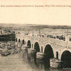 Postales: MERIDA - GRAN PUENTE SOBRE EL RIO GUADIANA - THOMAS. Lote 58294875