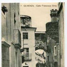 Postales: BADAJOZ OLIVENZA CALLE FRANCISCO ORTIZ 7 . SIN CIRCULAR. Lote 58528769