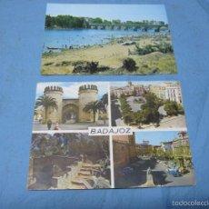 Postales: POSTAL ANTIGUA BADAJOZ AÑOS 60 COLOR PLAYA RIO GUADIANA. Lote 58562767