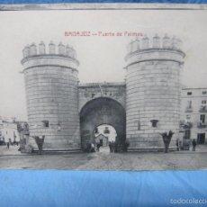 Postales: ANTIGUA POSTAL DE BADAJOZ AÑO 1925 PUERTA DE PALMAS. Lote 58562893