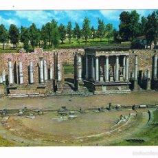 Postales: POSTAL ANTIGUA BADAJOZ CIRCULADA MERIDA ANFITEATRO ROMANO. Lote 58669007