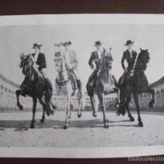 Postales: POSTAL PUBLICITARIA PLAZA DE TOROS CACERES. CORRIDA 23 ABRIL 1971. LOS CUATRO JINETES DEL APOTEOSIS.. Lote 58674261
