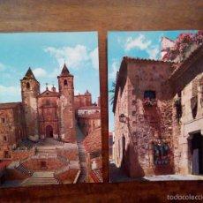 Postales: 2 POSTALES CÁCERES. GARCÍA GARRABELLA.. Lote 58687131