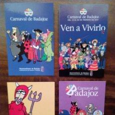 Postales: LOTE DE 4 POSTALES CARNAVAL DE BADAJOZ.. Lote 58687297