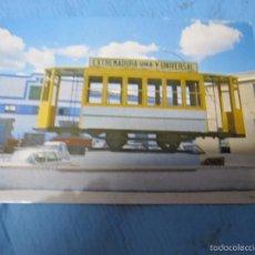 Postales: ANTIGUA POSTAL DE SANTA MARTA DE LOS BARROS BADAJOZ TRANVIA. Lote 58921370