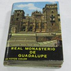 Postales: BLOCK DE 23 POSTALES. REAL MONASTERIO DE GUADALUPE. CACERES. A COLOR. GARCIA GARRABELLA Y CIA. Lote 59822340