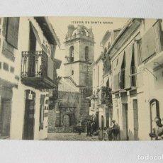 Postales: POSTAL DE LA IGLESIA DE SANTA MARIA. GRAN BALNEARIO DE BAÑOS DE MONTEMAYOR. CACERES. Lote 63449892