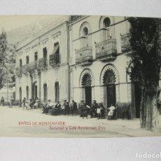 Postales: POSTAL DE LA SUCURSAL Y CAFE RESTAURENT HOTEL ELOY DE BAÑOS DE MONTEMAYOR. CACERES. Lote 63450700