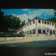 Postales: BAÑOS DE MONTEMAYOR CACERES BAR RESTAURANTE LA GLORIETA FACHADA Y TERRAZA. Lote 64326007