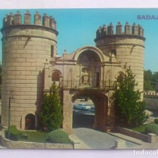 Postales: POSTAL BADAJOZ - PUERTA PALMA, CIRCULADA 1975. Lote 66321154