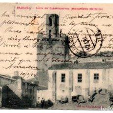 Postales: PS7069 BADAJOZ 'TORRE DE ESPANTAPERROS (MONUMENTO HISTÓRICO)'. VDA. CLARAMÓN. 1914. Lote 66833122