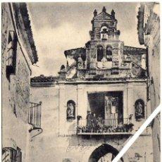 Postales: MAGNIFICA POSTAL - ZAFRA (BADAJOZ) - PUERTA DE JERES - AMBIENTADA - COLECCIÓN CALDERÓN SERIE A. Lote 36375295