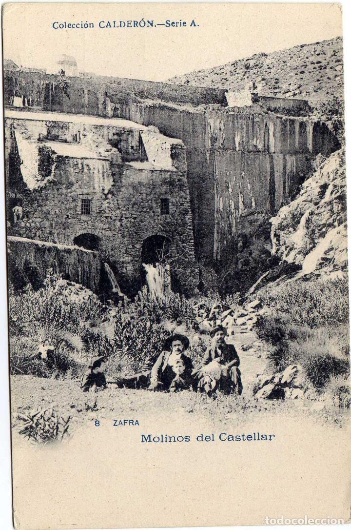 BONITA Y ANTIGÜA POSTAL - ZAFRA (BADAJOZ) - MOLINOS DEL CASTELLAR - AMBIENTADA (Postales - España - Extremadura Antigua (hasta 1939))