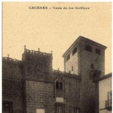 Postales: INTERESANTE POSTAL - CACERES - PALACIO DE LOS GOLFINES - AMBIENTADA. Lote 36194486