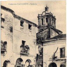 Postales: MAGNIFICA POSTAL - ZAFRA (BADAJOZ) - PLAZA DE LA LIBERTAD - AMBIENTADA - COLECCIÓN CALDERON. Lote 36375386