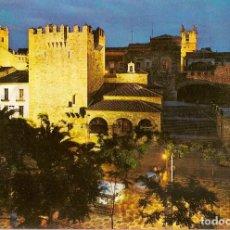 Postales: CACERES TORRES DE BUJACO Y ERMITA DE LA PAZ NOCTURNA - EDICIPNES ARRIBAS 2046 NO CIRCULADA. Lote 68632049