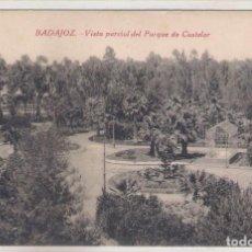 Postales: POSTAL DE BADAJOZ - VISTA PARCIAL DEL PARQUE DE CASTELAR .. Lote 70534009