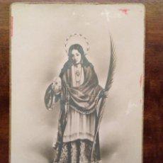 Postales: ANTIGUA POSTAL RECORDATORIO DE SANTA EULALIA, MÁRTIR, PATRONA DE MÉRIDA.. Lote 72040275