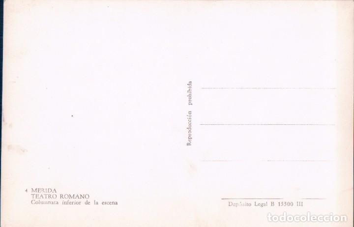Postales: POSTAL MERIDA - TEATR ROMANO - COLUMNA INFERIOR DE LA ESCENA - 4 - Foto 2 - 75037139