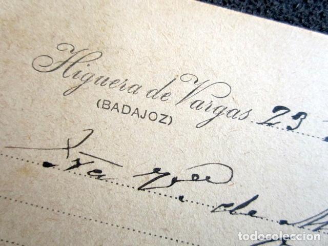 Postales: POSTAL PUBLICITARIA, AÑO 1930. HIGUERA DE VARGAS, BADAJOZ. CON MARCA VERDE DE DEVOLUCIÓN. - Foto 3 - 76591751