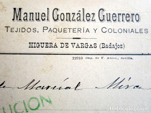 Postales: POSTAL PUBLICITARIA, AÑO 1930. HIGUERA DE VARGAS, BADAJOZ. CON MARCA VERDE DE DEVOLUCIÓN. - Foto 4 - 76591751