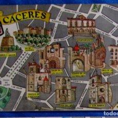 Postales: POSTAL PLANO MONUMENTAL Y OTROS DE CÁCERES. FRESMO, 1964.. Lote 79117341