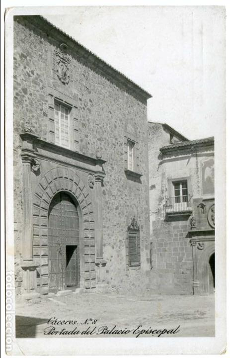 CÁCERES Nº 8. PORTADA DEL PALACIO EPISCOPAL. E.R. MADRID. (Postales - España - Extremadura Antigua (hasta 1939))