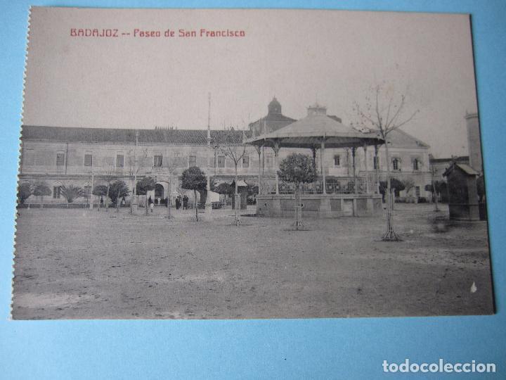 POSTAL ANTIGUA DE BADAJOZ PASEO DE SAN FRANCISCO (Postales - España - Extremadura Antigua (hasta 1939))