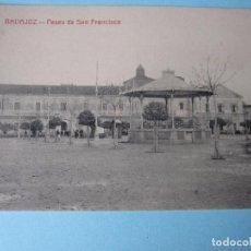 Postales: POSTAL ANTIGUA DE BADAJOZ PASEO DE SAN FRANCISCO. Lote 80432877