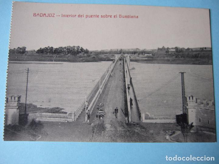 POSTAL ANTIGUA BADAJOZ PUENTE DE PALMAS O VIEJO (Postales - España - Extremadura Antigua (hasta 1939))