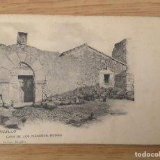 Postales: POSTAL TRUJILLO - CASA DE LOS PIZARROS - SIN DIVIDIR (MUY RARA). Lote 83683596