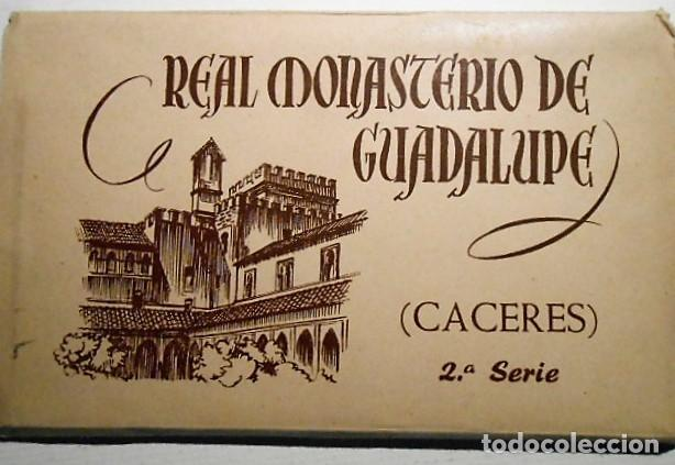 BLOC 10 POSTALES REAL MONASTERIO DE GUADALUPE. CACERES. 2ª SERIE. FOURNIER (Postales - España - Extremadura Antigua (hasta 1939))