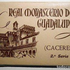 Postales: BLOC 10 POSTALES REAL MONASTERIO DE GUADALUPE. CACERES. 2ª SERIE. FOURNIER. Lote 85116892