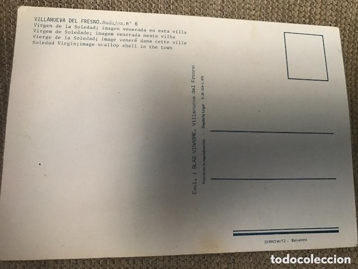 Postales: ANTIGUA Y RARA POSTAL SEMANA SANTA BADAJOZ - VIRGEN SOLEDAD VILLANUEVA DEL FRESNO - NÚM 6 - Foto 2 - 88180756
