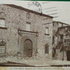 Postales: 6. POSTAL DE CACERES. PALACIOS DEL OBISPO GALARZA Y OVANDO (SIGLO XVI). Lote 95087355